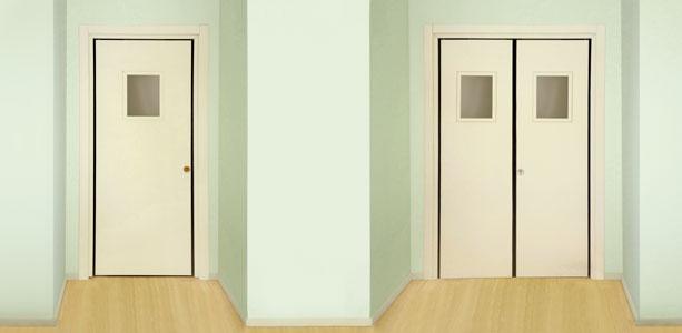 Hotel eden san co sanco soluzioni tagliafuoco in legno - Porta a spinta ...