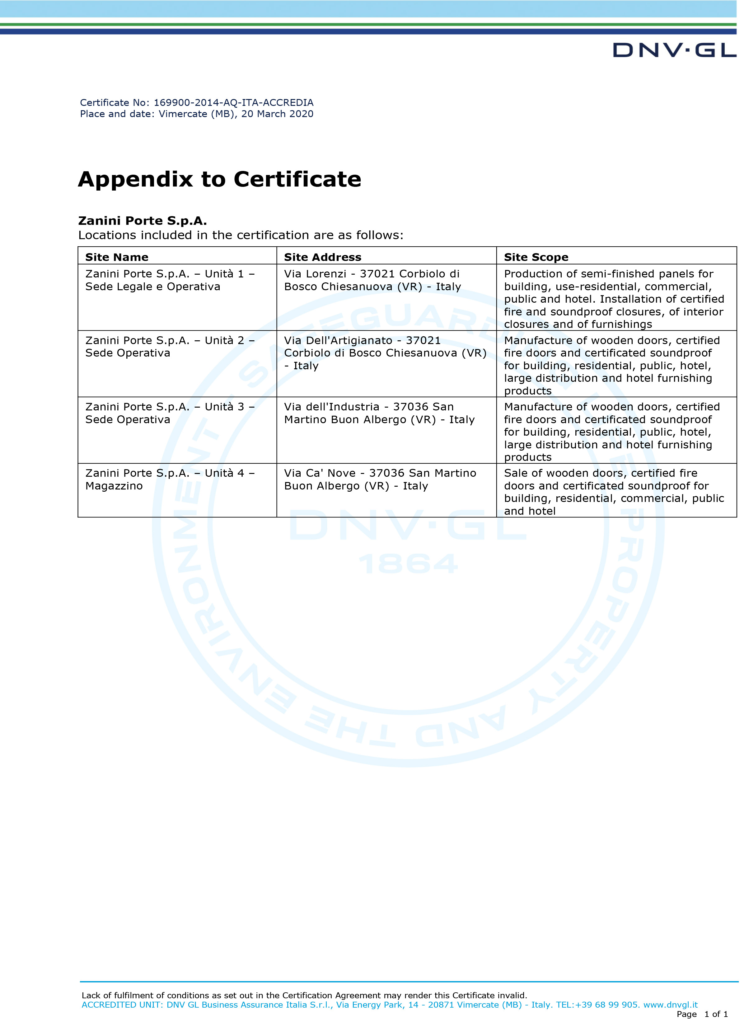 ZANINI-PORTE-S.p.A. ISO 9001 ENG